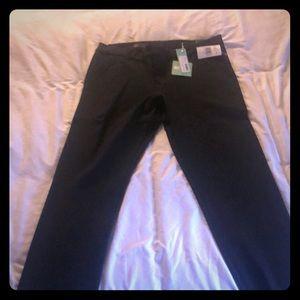 Skinny Black Patterned Dress Pants